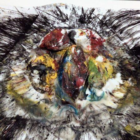 Objekt Bild mit Pigment abstrakt Genital Vier-Tages-Romantik Kim Okura