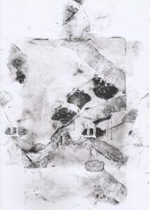 Art print Ginkgo biloba Unikat Originaldruckgrafik