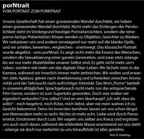 Ausstellung PorNtrait Text