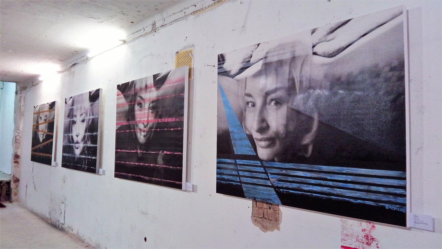 Ausstellungsansicht POR N TRAITS Kim Okura Halbgasse 7 Wien