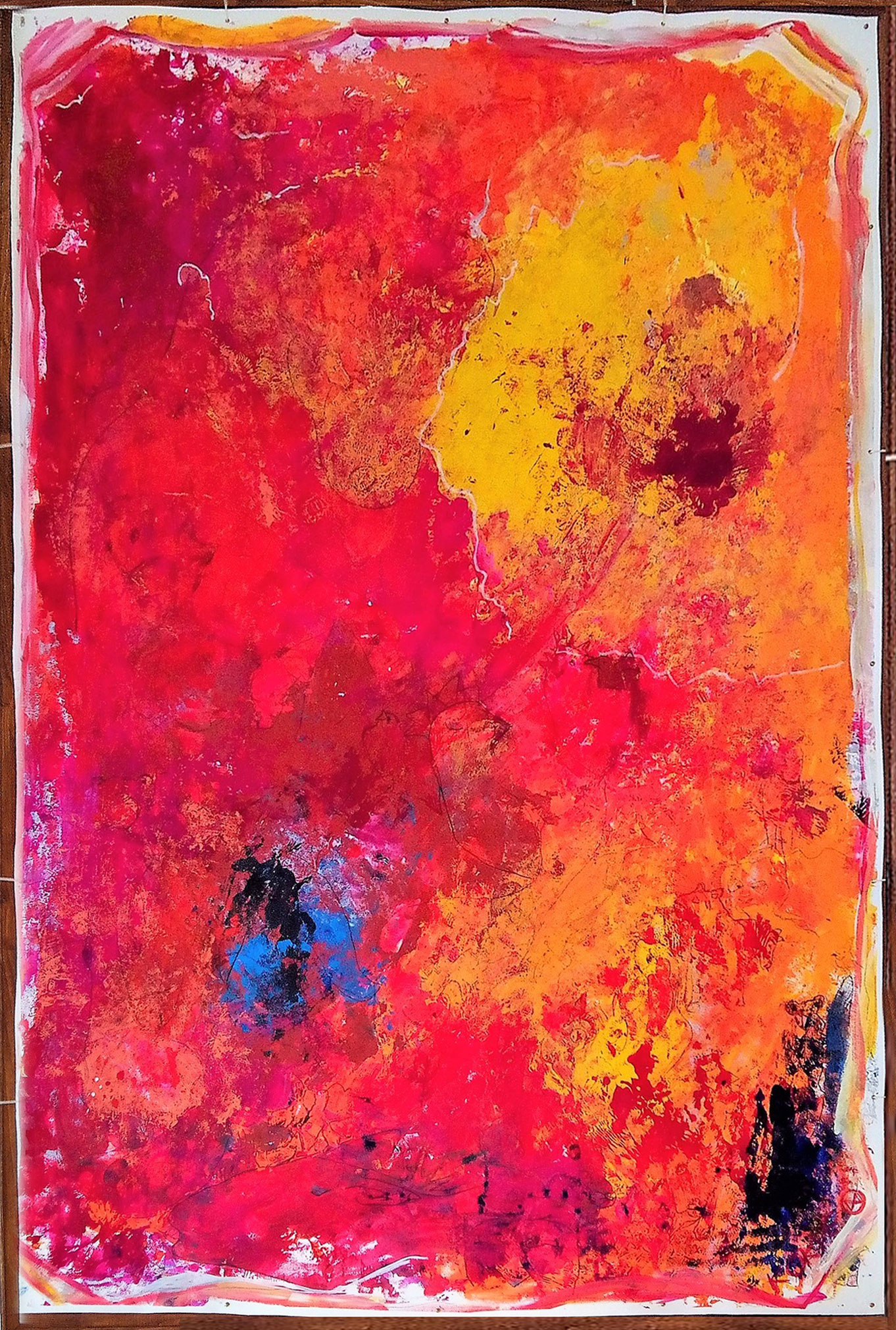 BIG RED 2.30 x 1.55 meter, object painting, cycle Trophäen