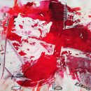 DANCING RED CROSS if god is painting, Mischtechnik auf Papier Kim Okura