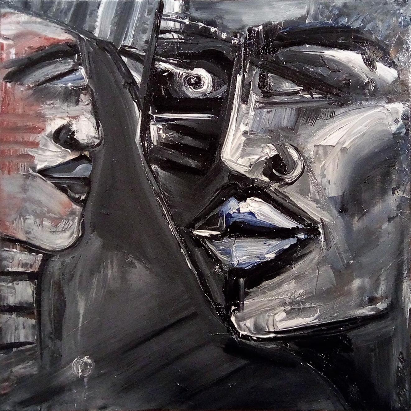 Der Schlaf der Vernunft gebiert in Stein gemeisselte Ungeheuer Kim Okura 2018 oil on carvas framed