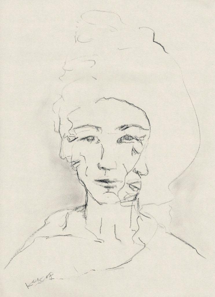 UNTITLED, WOMAN WITH THREE FACES Dame mit den drei Gesichtern, Kim Okura KOK