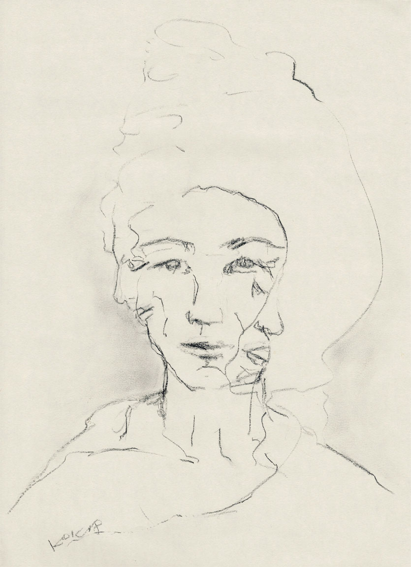UNTITLED, WOMAN WITH THREE FACES Dame mit den drei Gesichtern, Kim Okura KOK