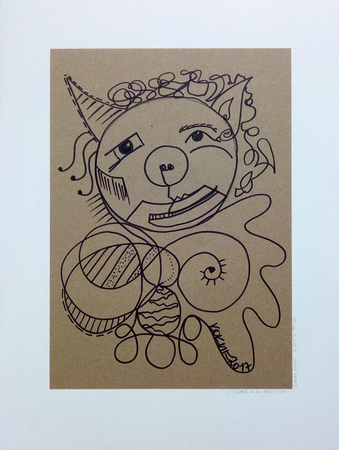 ELWMS Kim Okura Studie 2 marker auf grey brown paper