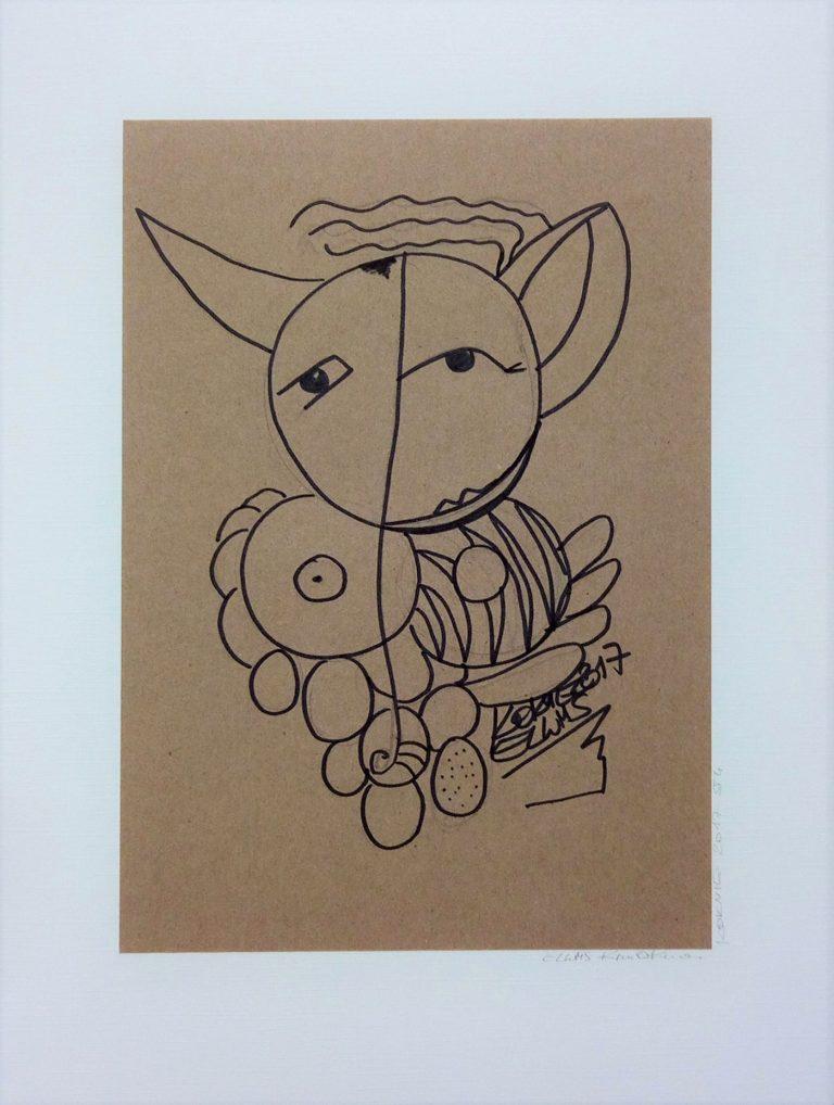 ELWMS Kim Okura Studie 4 marker auf grey brown paper