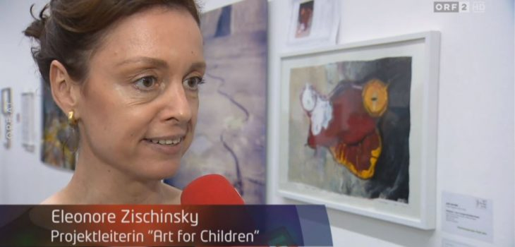 Eleonore Zischinsky in den ORF Seitenblicken Benefiz Kunstauktion ART FOR CHILDREN zugunsten des Sterntalerhofs