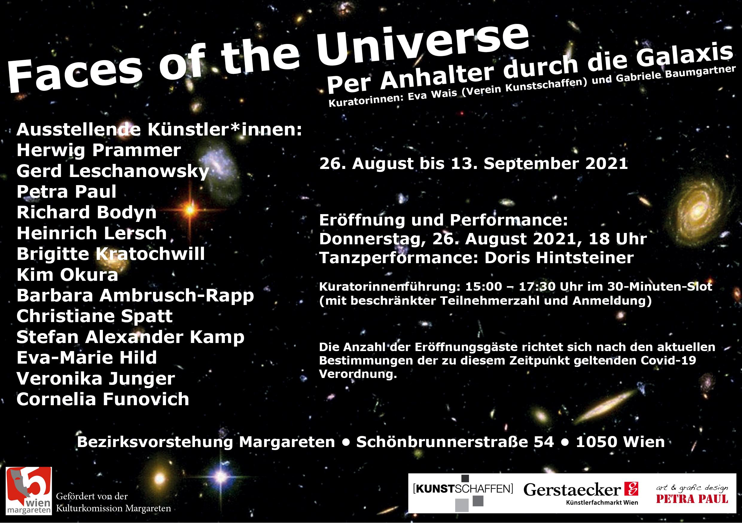 Exhibition Flyer - Faces of the Universe - Group Exhibition - Kim Okura
