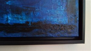 Heaven Bridge engraved monogramm KOK 18 artist Kim Okura blue painting
