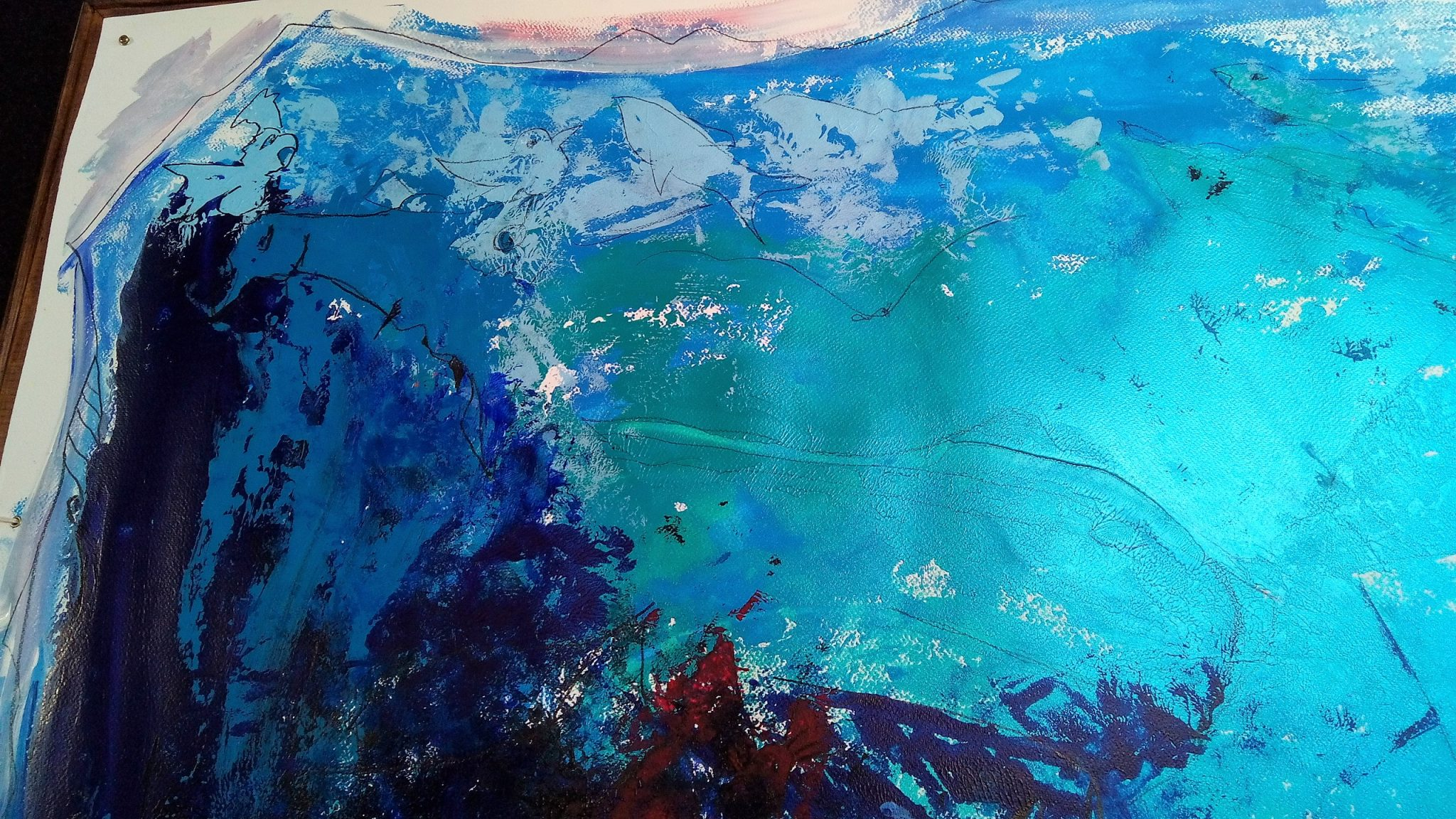 Kim Okura SEAWOORLD 1.55 x 1.55 meter, object painting, cycle Trophaeen
