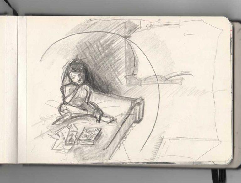 Studying in my Bubble - Kim Okura DD drawing