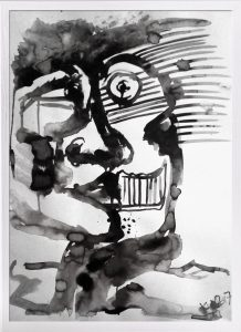 Ink On Paper Face 2017