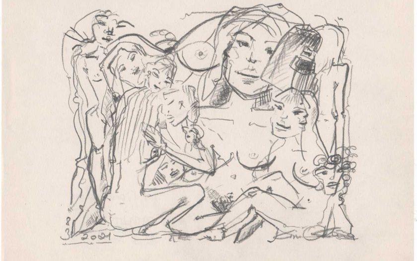 International Womens Day Drawing Zeichung Kim Okura