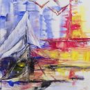 Kim Okura Italy painting 1 oil on cvancas 2017