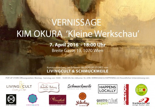 KIM OKURA Vernissage Flyer Einladung