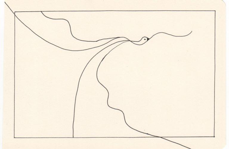 Kim Okura Flieg 5 Tusche Drawing
