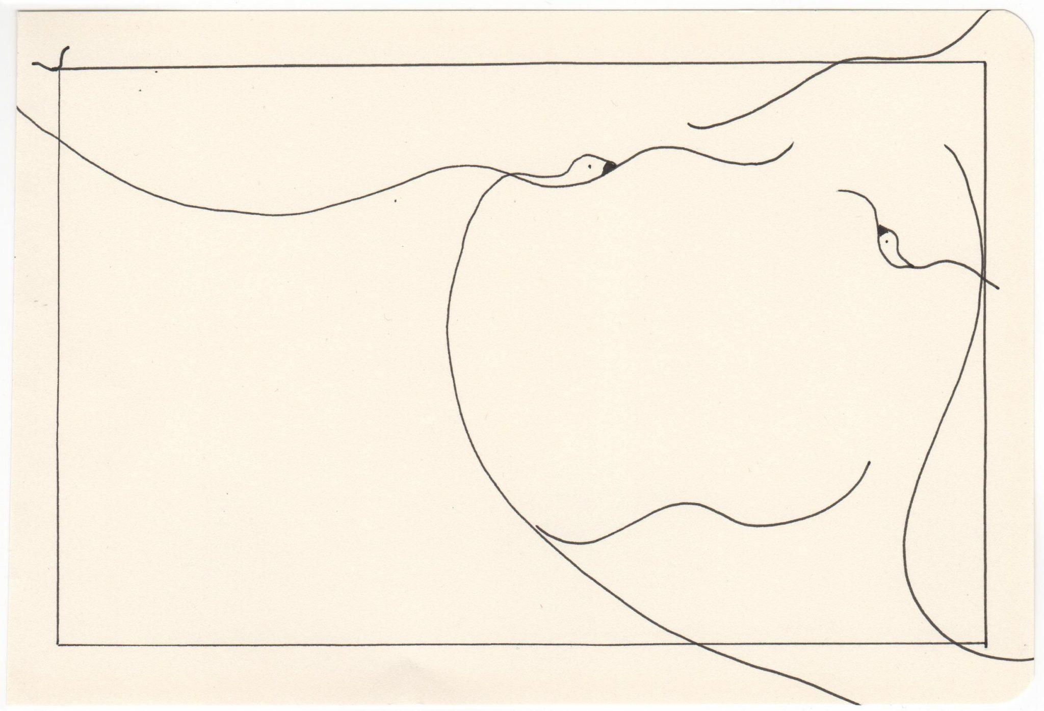 Kim Okura Flieg 4 Tusche Drawing