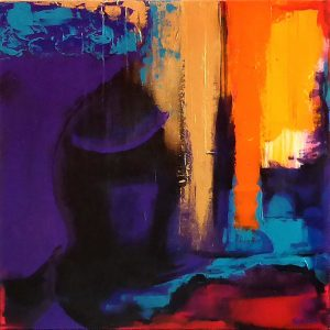 Buddha Violet Kim Okura Malerei KOKVIE