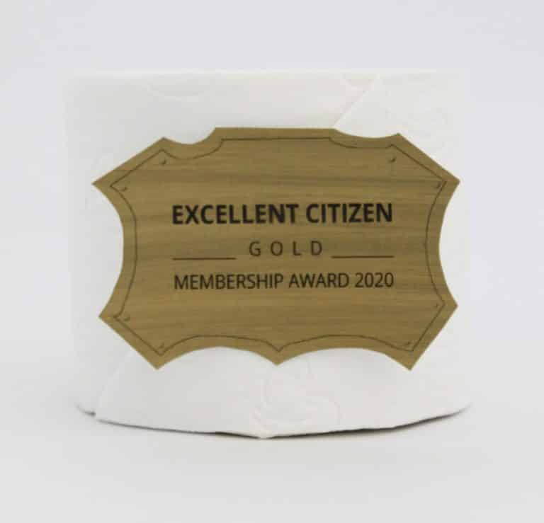 Excellent Citizen Toiletpaper Awart GOLD