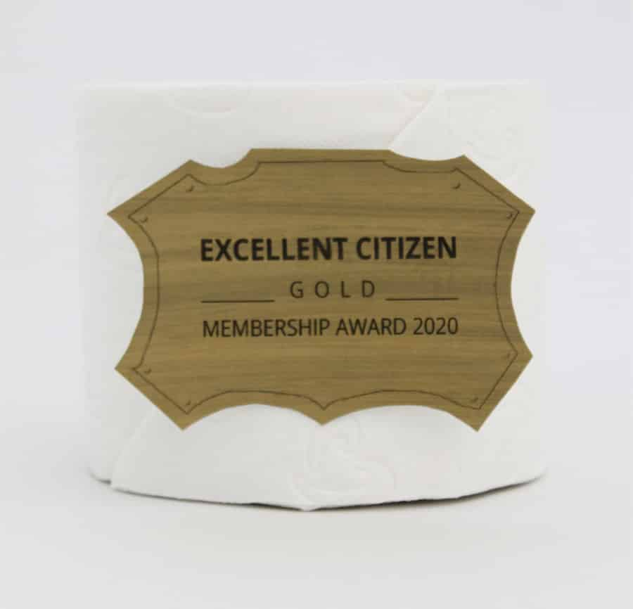 Excellent Citizen Toiletpaper Awart GOLD