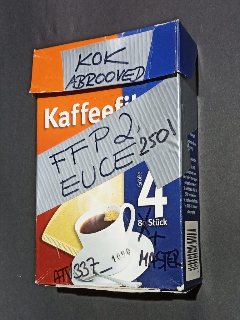 FFP2 mask filter packaging