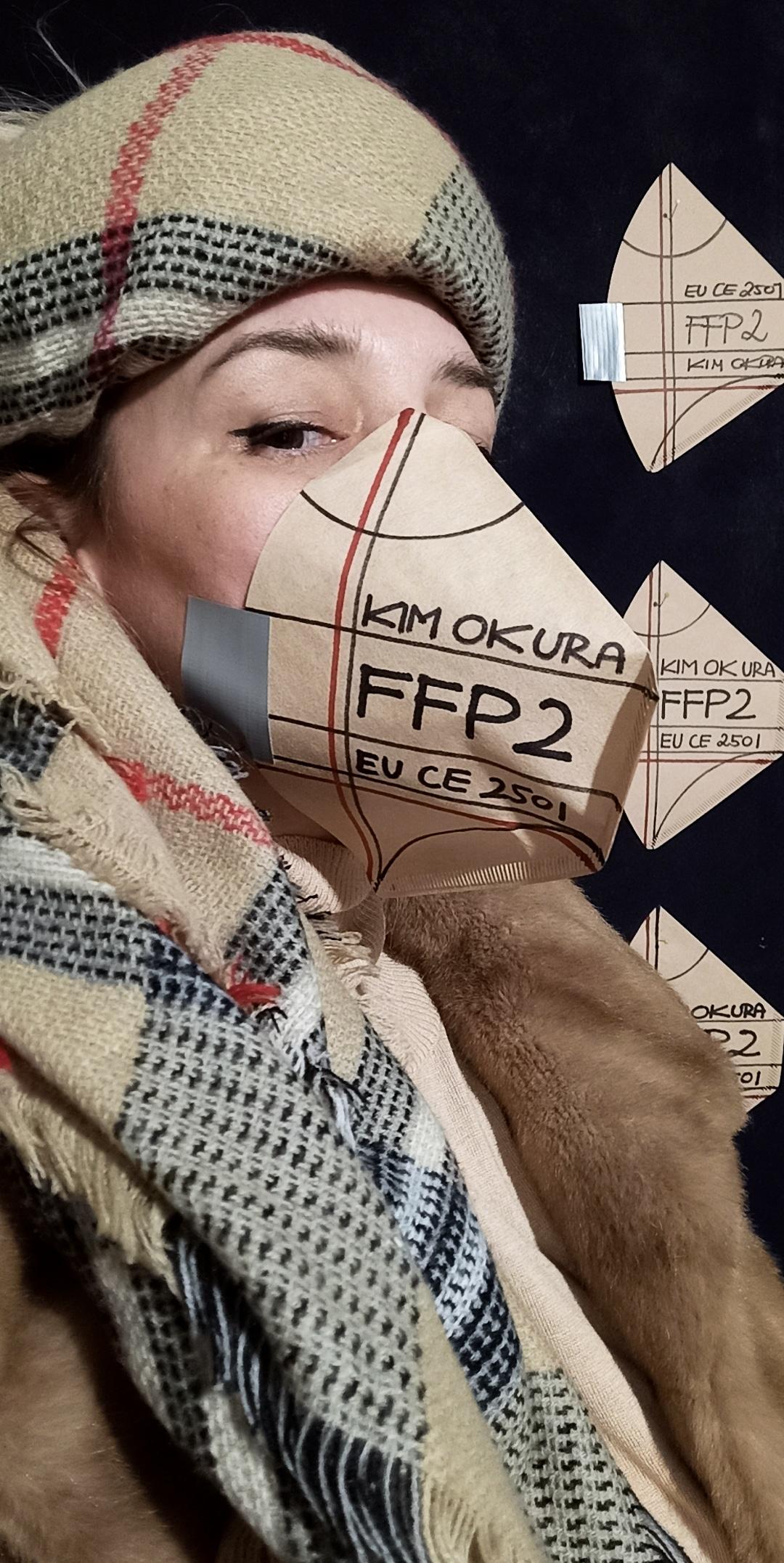 Kim Okura FFP2 Mask IG Story poster