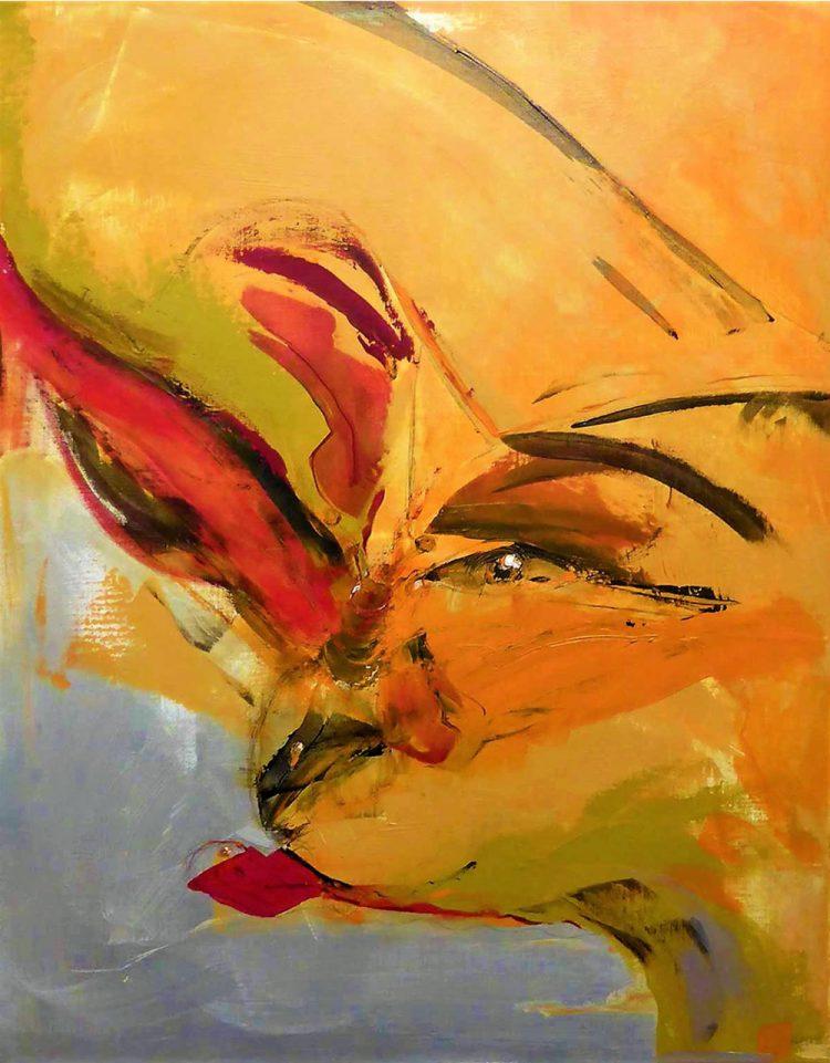 FAUN Mixed Media on Canvas Kim Okura Vienna KOKVIE
