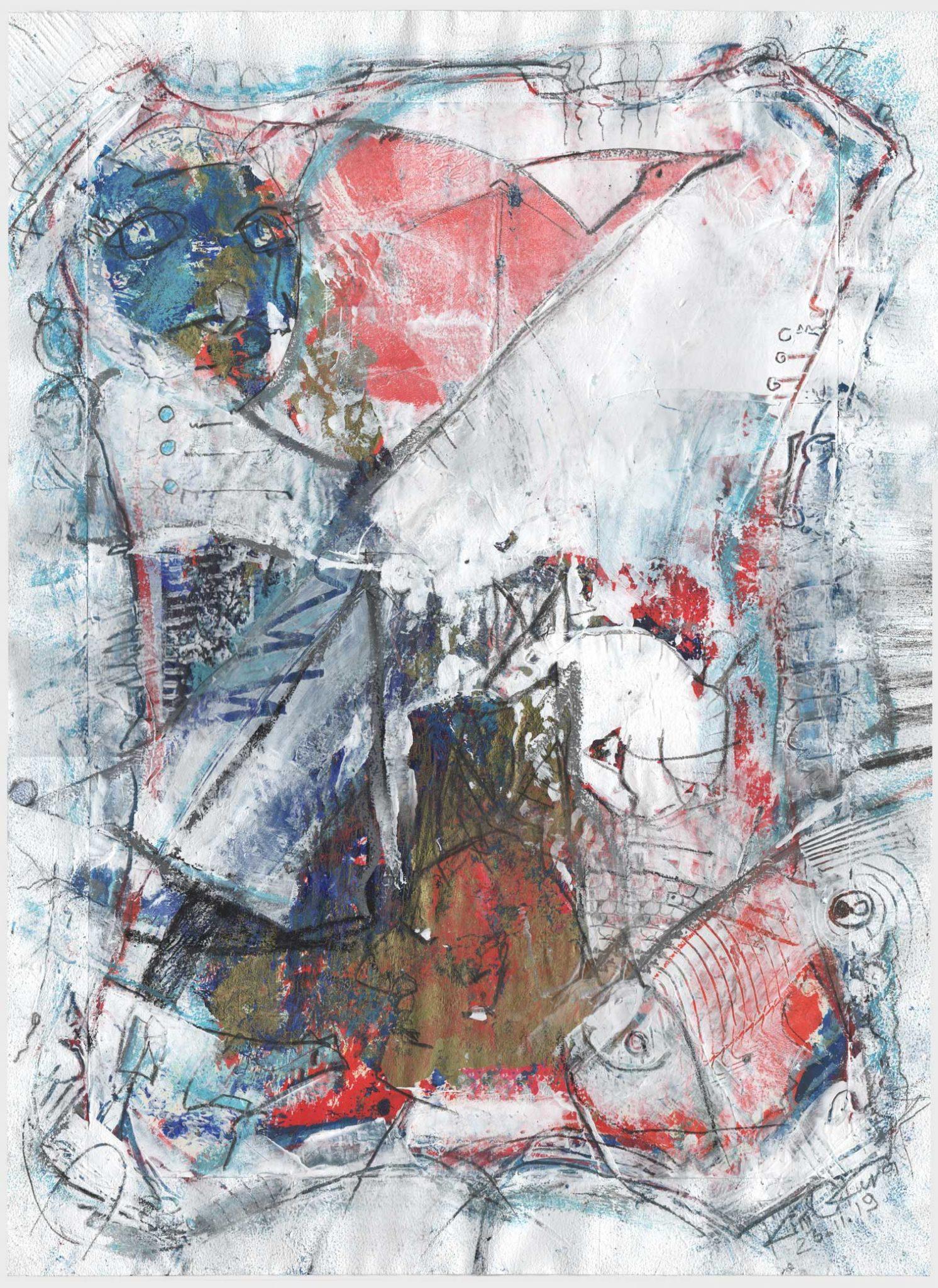 Kim Okura - Joytrophy guinea pig - versuchskaninchen 100 prozent bio painting