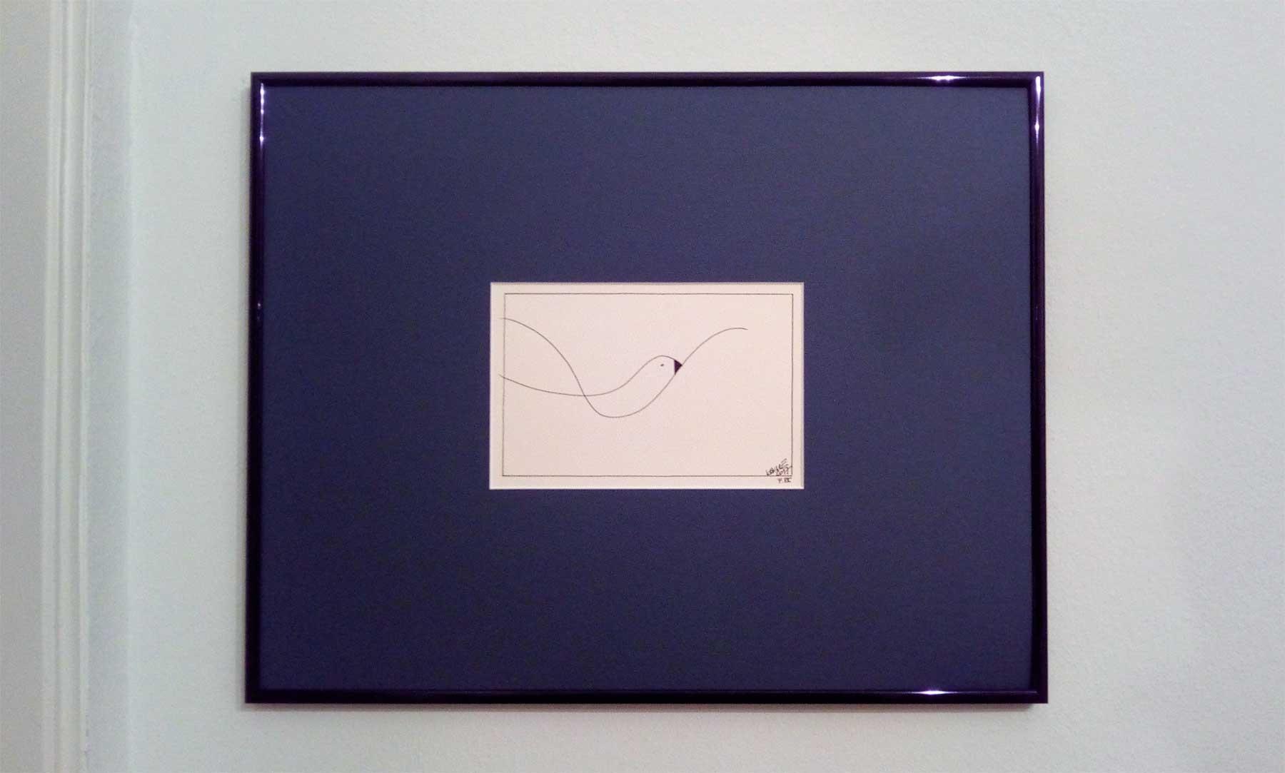 Kim Okura Seagull Moewe framed