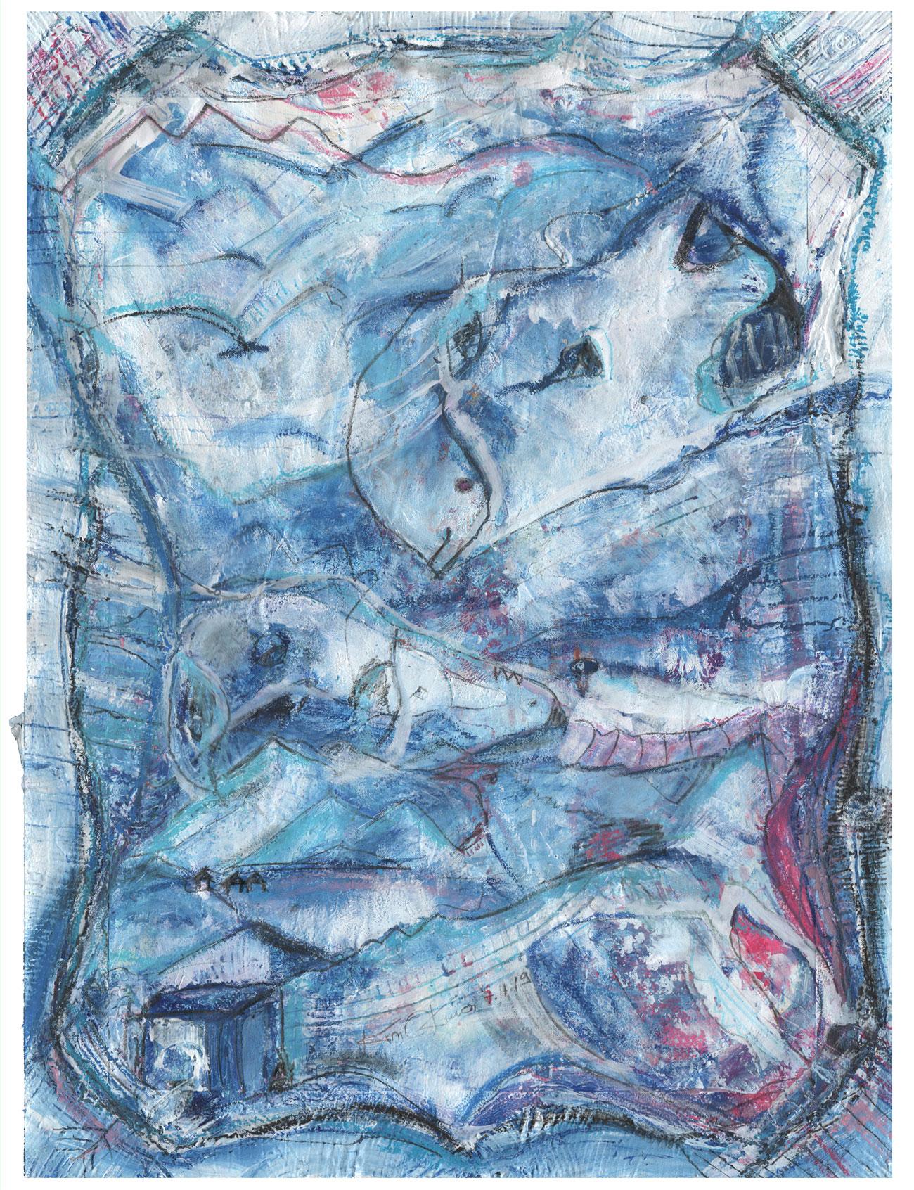 Kim Okura s Versuchskaninchen Nr 47 in Blau