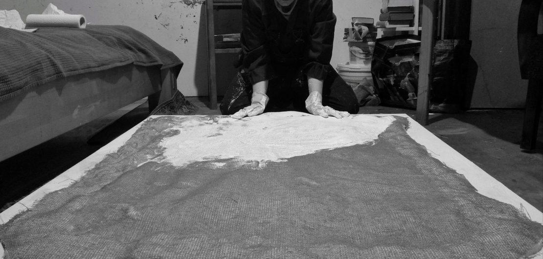Kim Okura at her studio in Vienna 2020