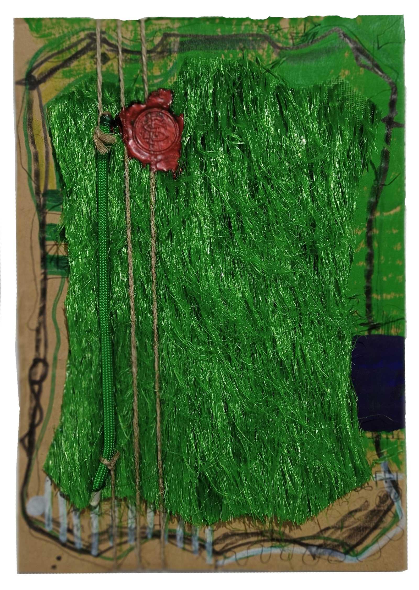 Kleingarten mit ool Gras - Okuraee auf Karton KIM OKURA joytrophies