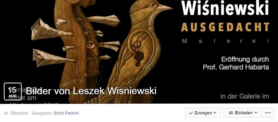 Leszek Wisniewski Galerie Palais Palffy Phantastenmuseum Vernissage Ausstellung