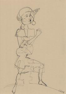 Drawing Kim Okura Marterpfahl 01 KOK 2018 ink on paper