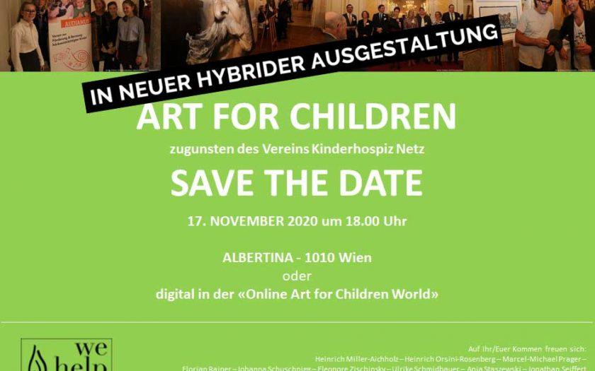 Art For Children Einlandung Flyer 2020