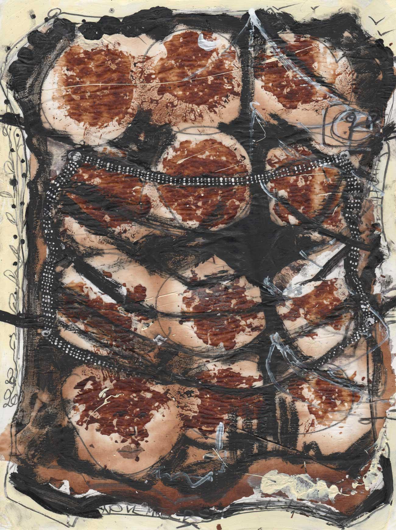 November Sweet Talk Dark cookie parchment paper art KIM OKURA Joytrophies