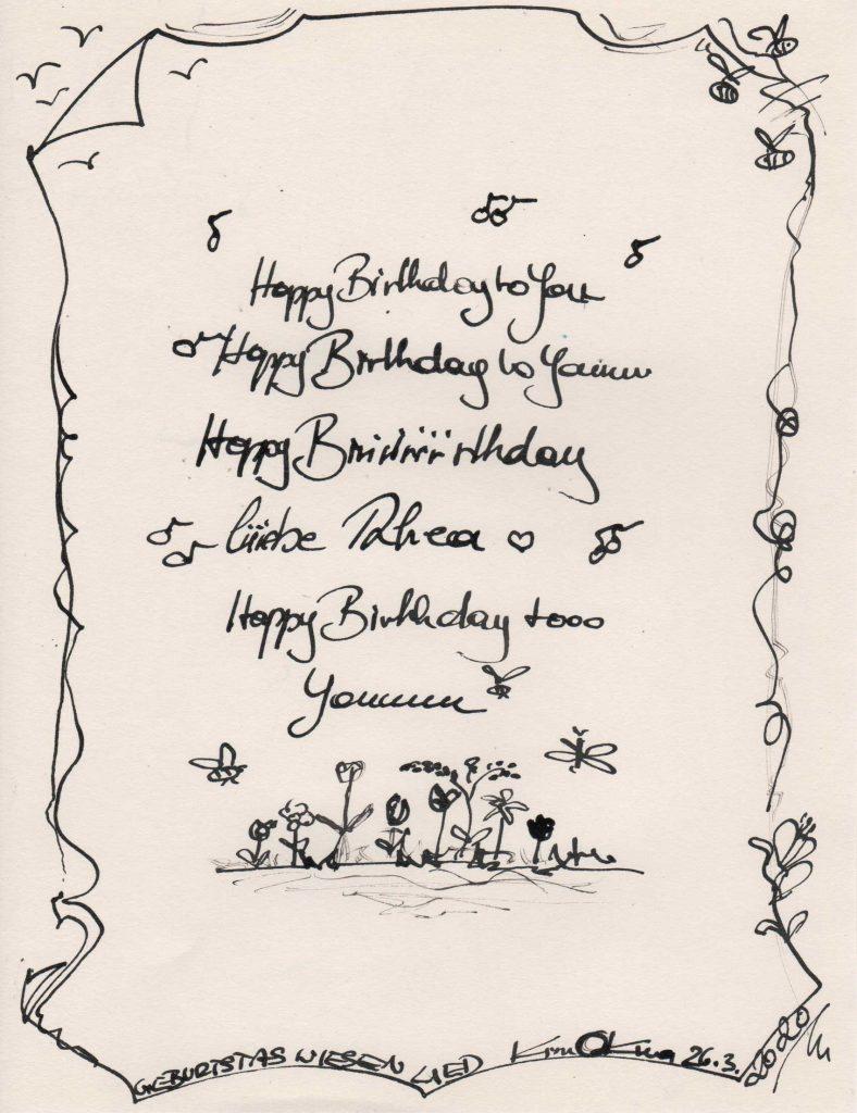 Geburtstagswiesenlied for my dear Rhea