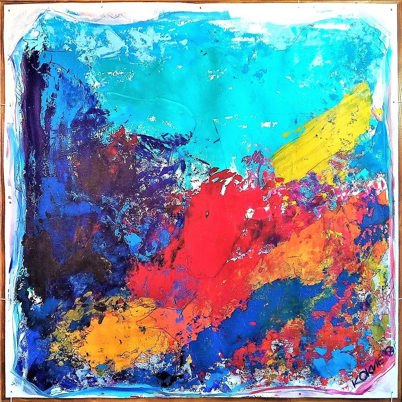 Kim Okura SEAWOORLD 1.55 x 1.55 meter, object painting, cycle Trophäen