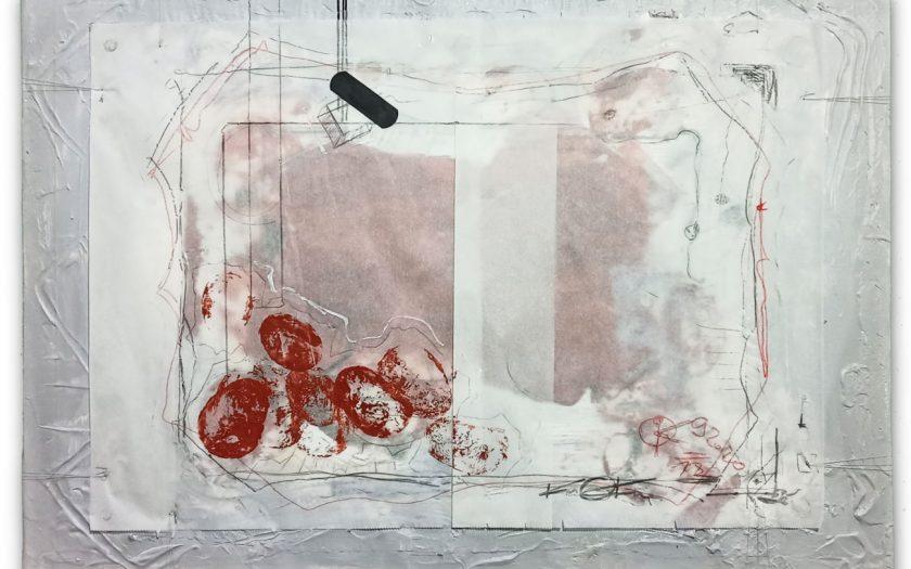 Oil and oil base pen, plaster, acrylic, etc ... on parchment paper, on canvas THE POTATOE TIER