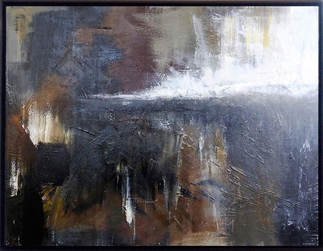 Ufer, Kim Okura 2013 70 x 90 cm framed 74x94 black, wood Guggenheim frame