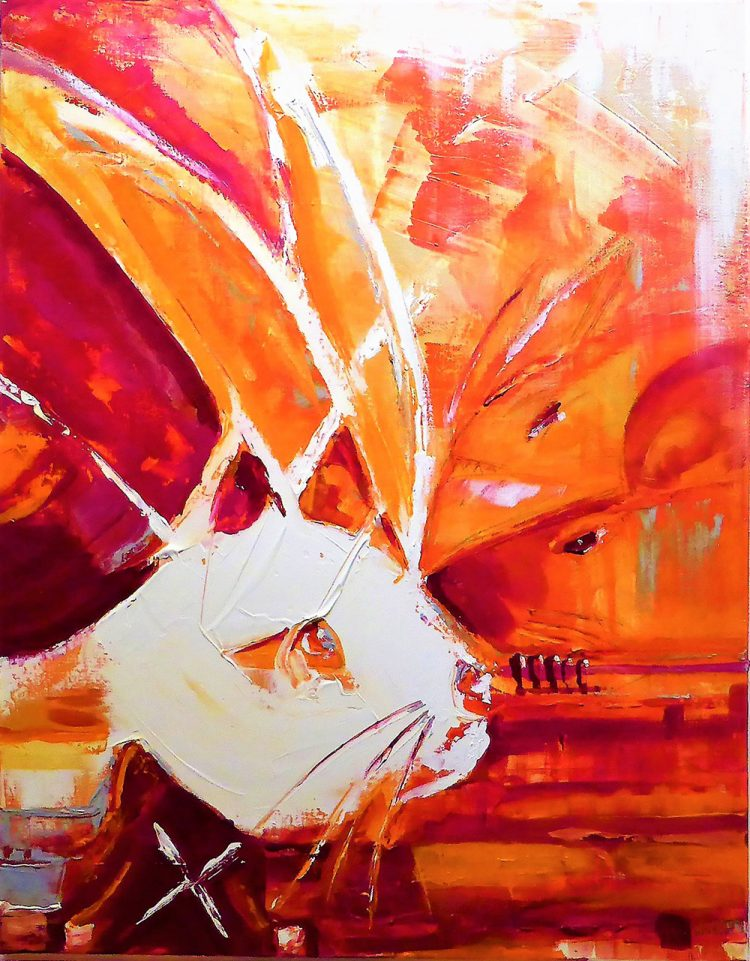 White Rabbit by Kim Okura Canvas Painting KOKVIE