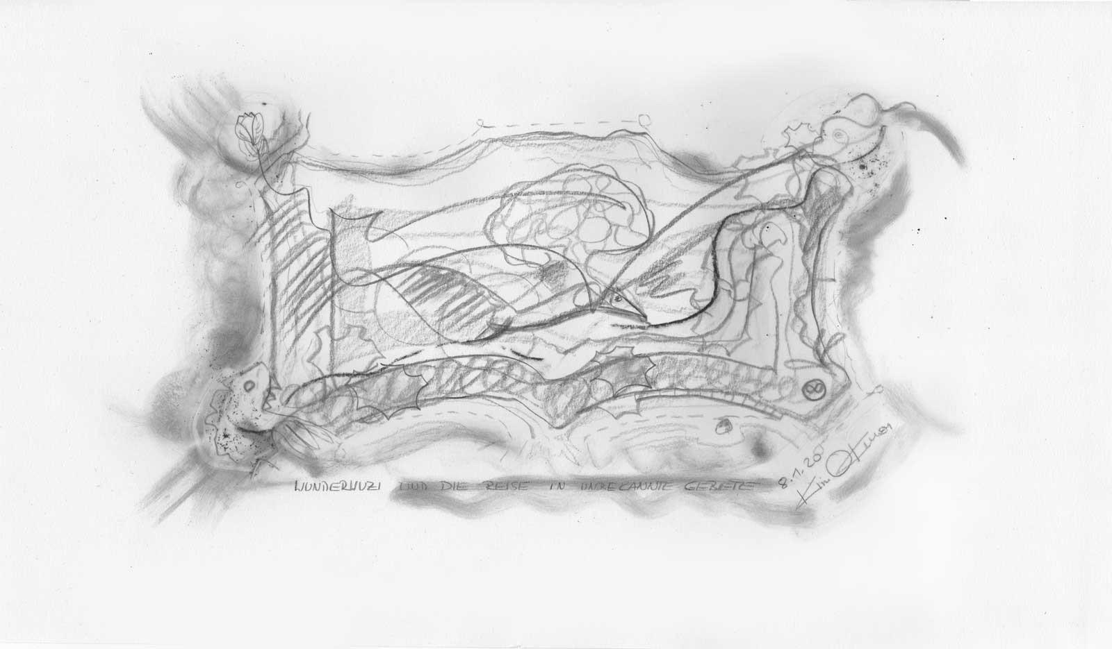 Kim Okura drawing Okurism Joytrophy Wunderwuzi