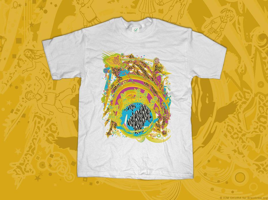 Social ART T-Shirt: HUMAN KIDS Different, different but the same - KIM OKURA for Braintribe.org
