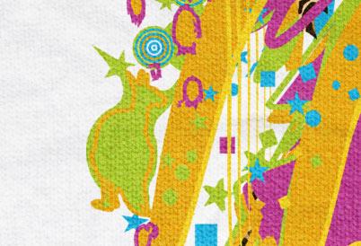 Design detail: Kangaroo - ART for Social HUMAN KIDS Tee KIM OKURA for Braintribe.org