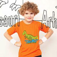 Kiddie, Kiddie... Wikitschi.com - Dinosaurier Arhhhh Shirt + Dino Malvorlage